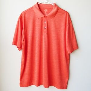 Haggar Cool 18 Performance Orange Polo Shirt